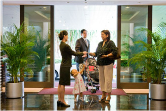 When you arrive at the CIP Terminal you are greeted and escorted into the lounge