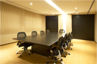 Conference room is available for rent at an hourly rate which includes food and beverage, multimedia tools, conference phone and wireless internet access